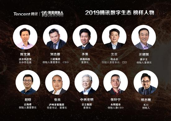 2019腾讯数字生态 榜样人物